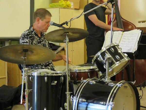 Brad Allen drumming photo